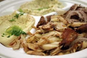 A photo of Lebanese food