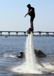 A photo of flyboarding