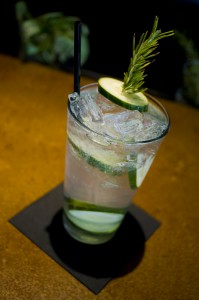A photo of the Cucumber No. 5 cocktail