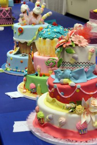 A photo of a cake decorating competition.