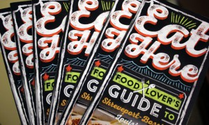 A photo of the Eat Here guide