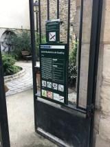 Secret garden on Rue Des Oiseaux behind the market