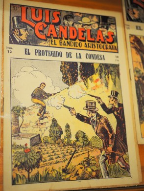 A comic book about bandeleros in the museum. Photo by R.
