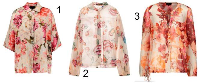 Blumenmuster auf der Bluse