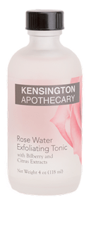 Kensington Apothecary Rose Water Exfoliating Tonic
