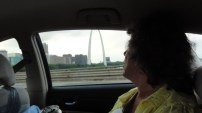 Home at last! We pass the Arch on our way in to St. Louis.