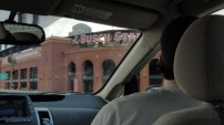 Our first glimpse of Busch Stadium