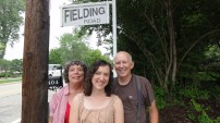 This is Fielding Road, the street where we lived most of our time in St. Louis (technically Ladue, which I learned is a separate city from St. Louis, one of the dozens of municipalities that make up St. Louis County). The sign is the same one that was there in my childhood.