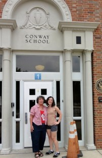 This is Conway Elementary, where Mom went for kindergarten through 7th grade (a bonus year because of construction at the junior high) and where I went for kindergarten, first and second. We had the same kindergarten classroom!