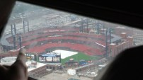 The view of Busch Stadium from the arch