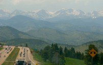 The views as we drove west from Denver to our campsite in the Rocky Mountains were worth the trip in themselves.
