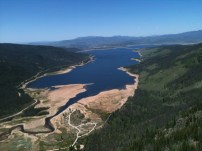 Matt sent me this photo he took from the top of the mountain looking down at Lake Granby.