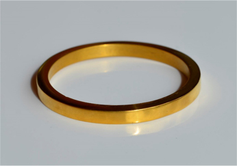 24k solid bangle