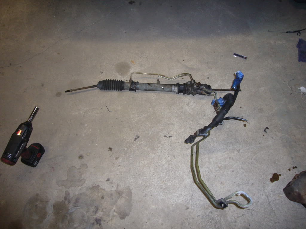 converting a s13 240sx steering rack