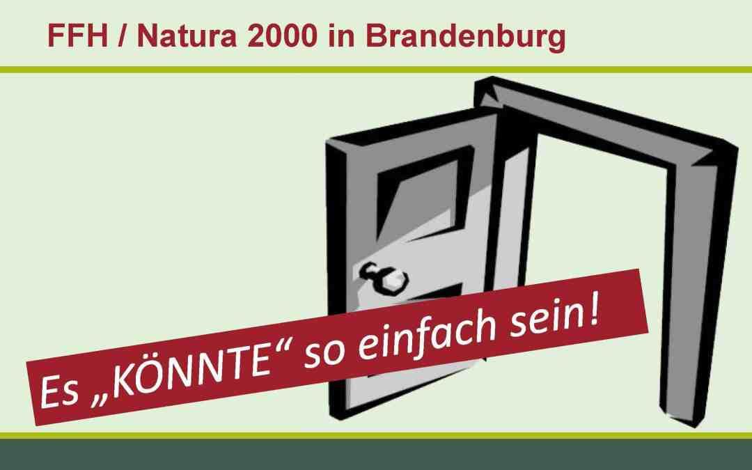 """Fauna, Flora, Habitat in Brandenburg: Es """"könnte"""" so einfach sein!"""