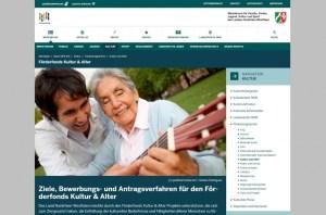 Screenshot Förderfonds Kultur und Alter _ MFK