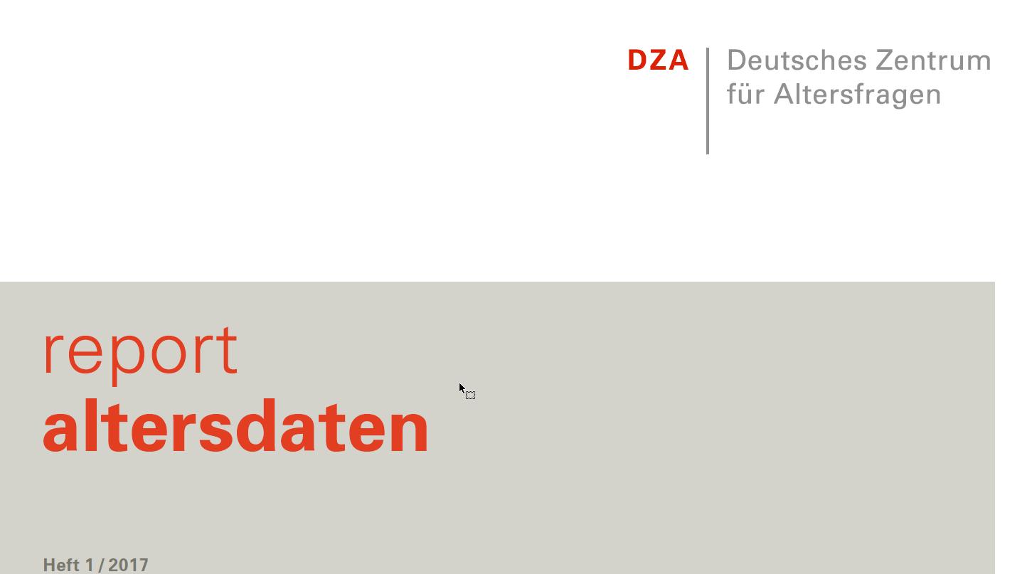 Cover Report Altersdaten