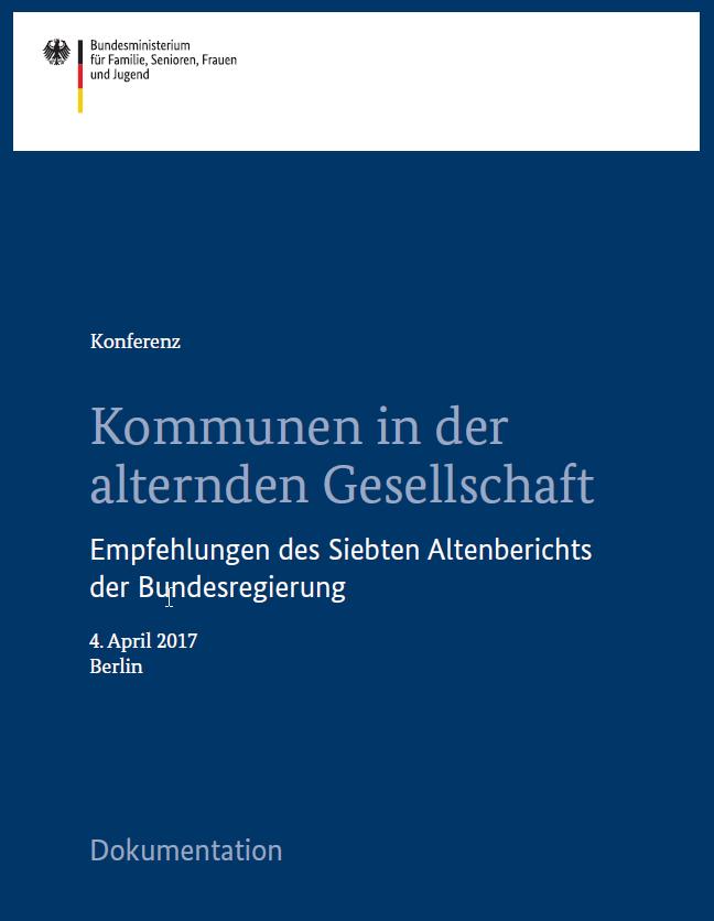 Cover Kommunen in der alternden Gesellschaft - Veranstaltungsdokumentation