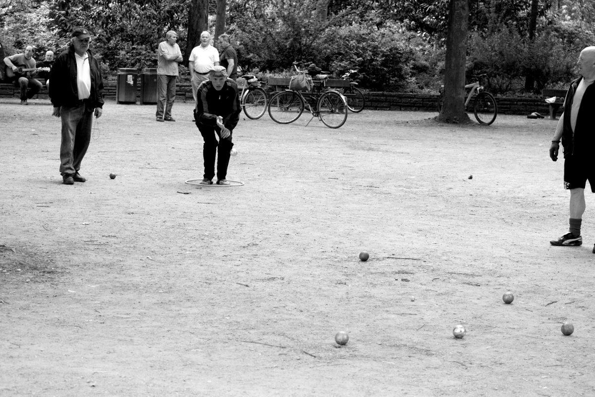 Abbildung Boulespieler in Hamburg