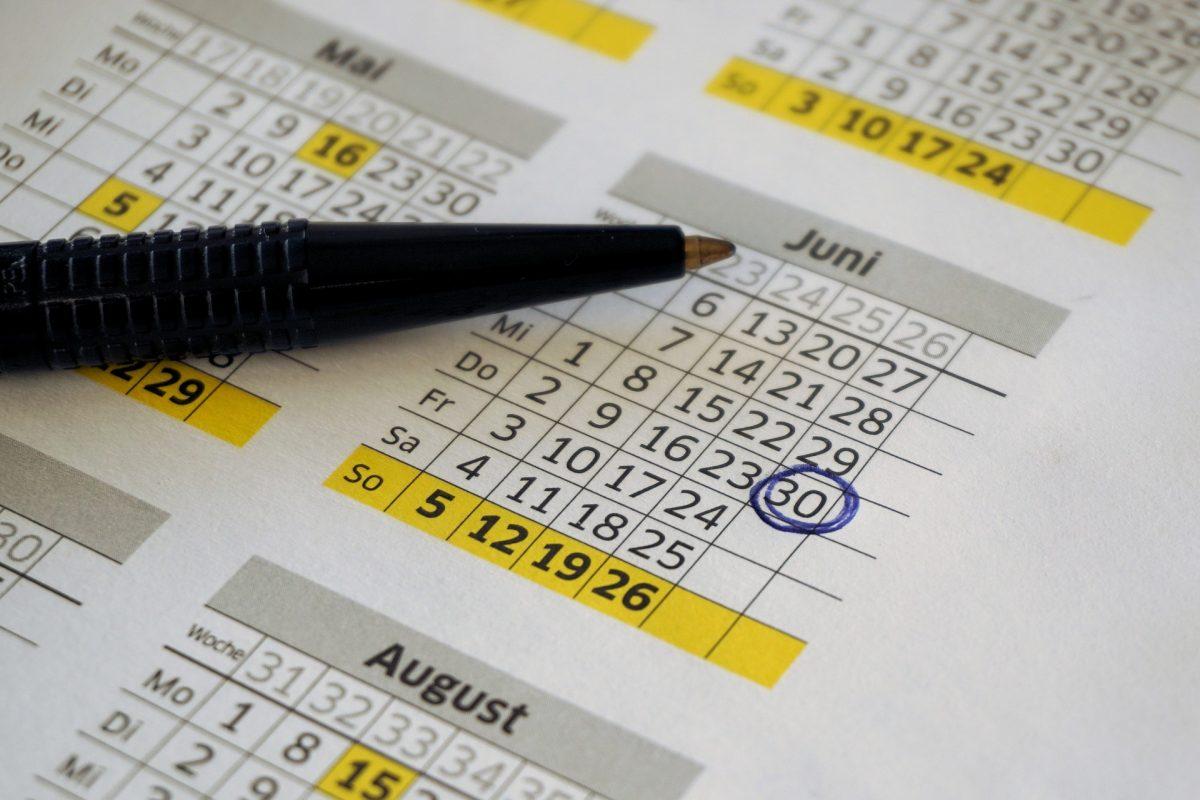 Jahrestage Kalender