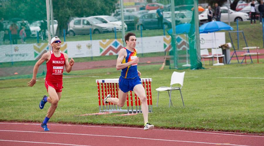 Pol Moya en una competició