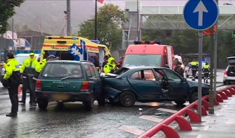 Un accident entre dos vehicles