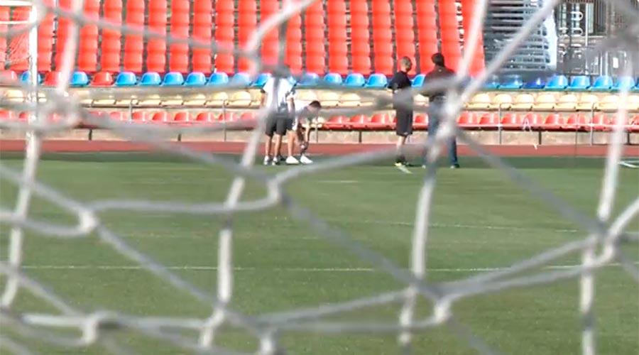 Esportistes a l'estadi comunal Joan Samarra