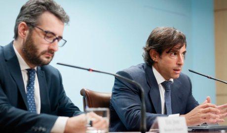 El ministre Jover amb l'exdirector de l'AFA, Ramon López