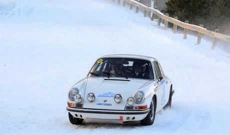 Un participant en un Andorra Winter Rally