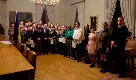 Sílvia Riva i Joan Sans al Centre Carlemany de la Llengua Catalana de Praga