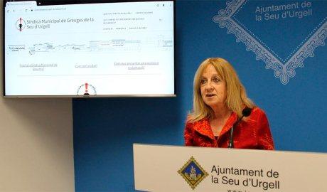 Anna Martí presenta l'informe com a síndica de greuges de la Seu d'Urgell
