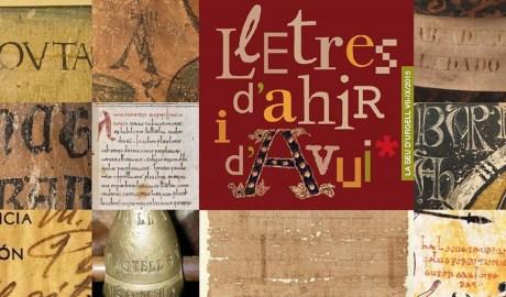 """Cartell de l'exposició """"Lletres d'Ahir i d'Avui"""""""