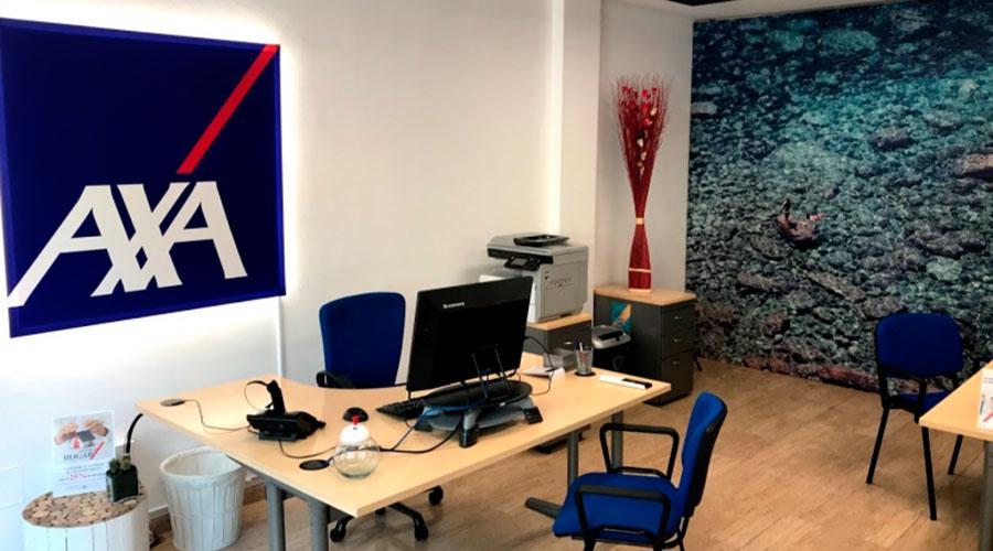 una oficina d'AXA Assegurances