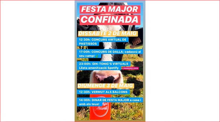 El cartell de la Festa Major confinada d'Aravell