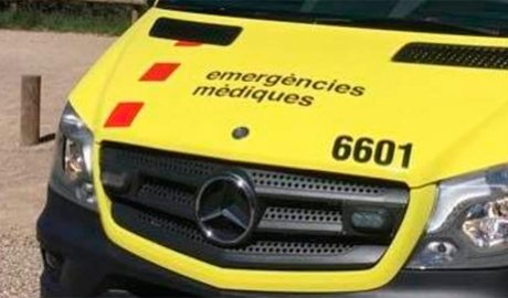 Una ambulància d'Emergències Mèdiques de Catalunya