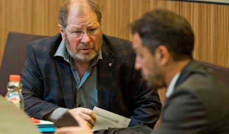 Jordi Font parla amb Pere López