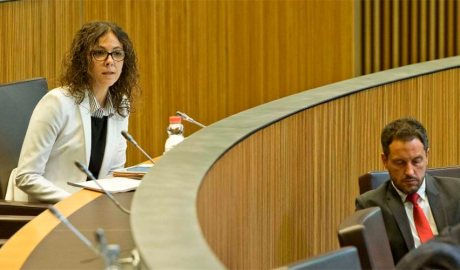 Els consellers generals socialdemòcrates Judith Salazar i Pere López