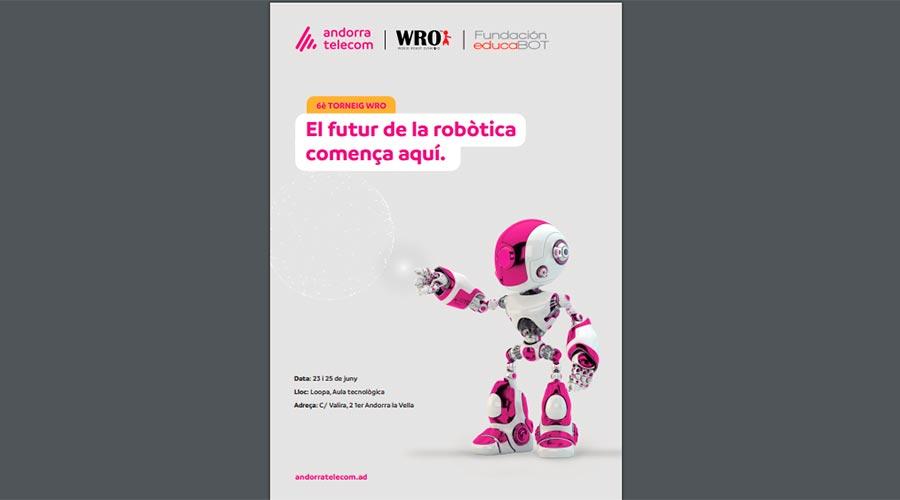 Cartell de la lliga de robòtica d'Andorra