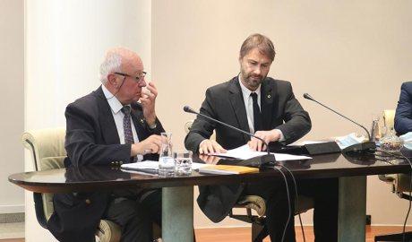 Els socialdemòcrates Enric Riba i David Rios al Comú d'Encamp