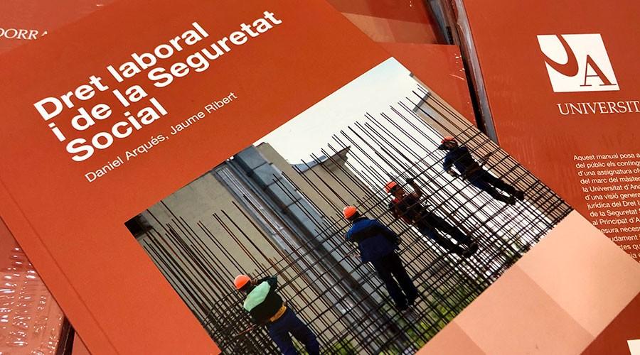 portada del llibre sobre dret laboral (