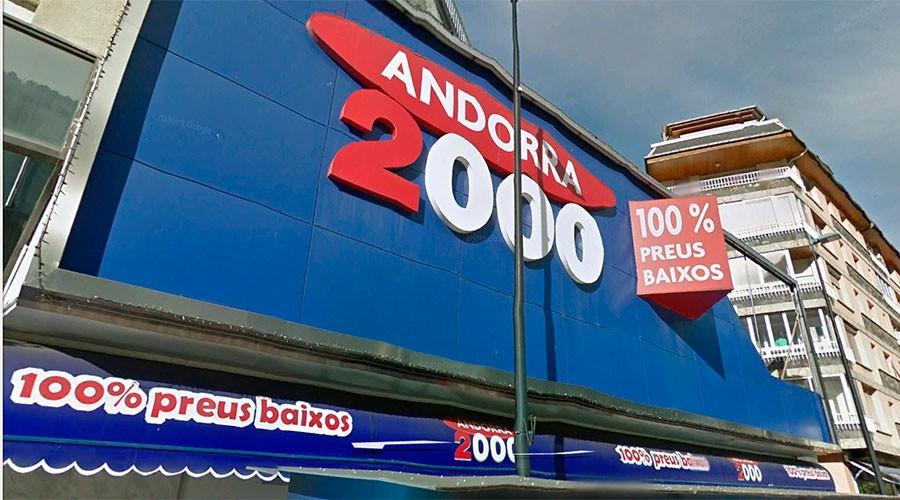 façana del supermercat Andorra 2000