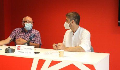 Enric Riba i David Rios a la seu del Partit Socialdemòcrata