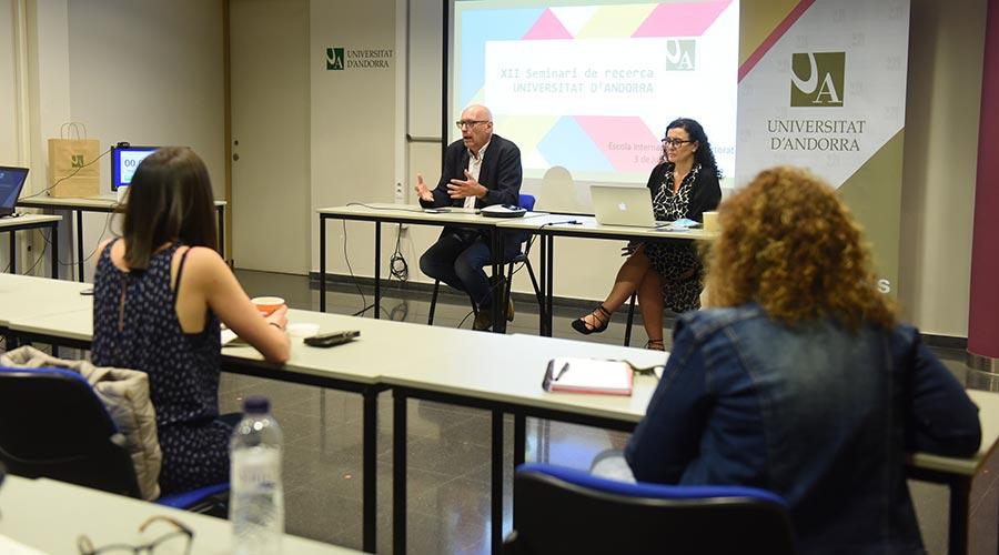 Un moment del Seminari de Recerca de la Universitat d'Andorra