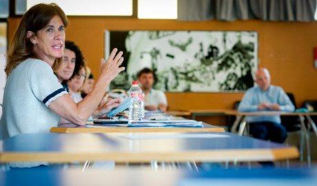 Reunió del Consell de les escoles presidit per la ministra Ester Vilarrubla