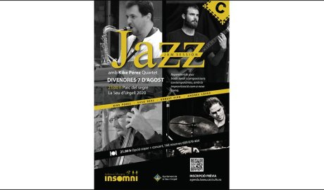 Cartell d'un concert de Jazz a la Seu d'Urgell