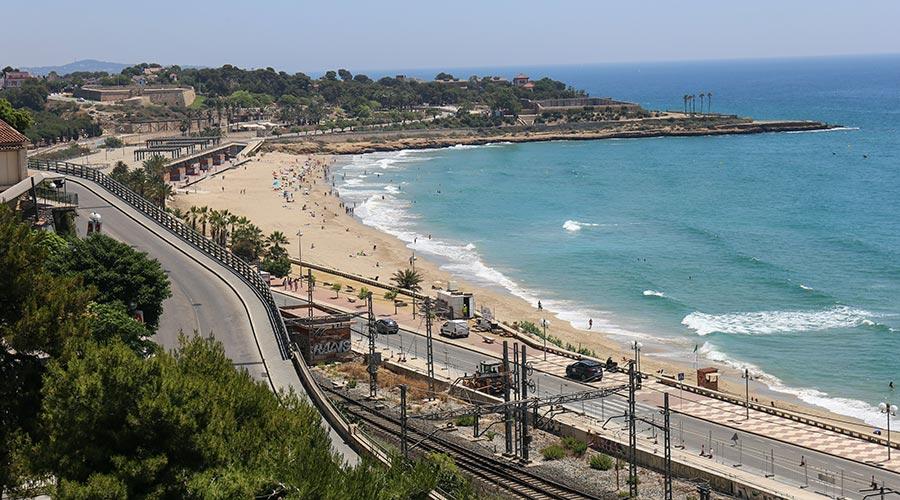 Una platja a la ciutat de Tarragona