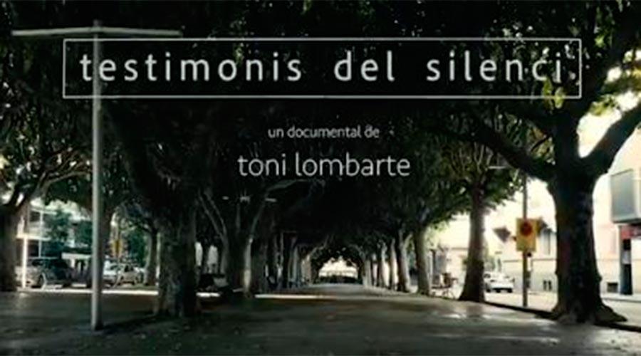 Portada del documental 'Testimonis del silenci' de Toni Lombarte