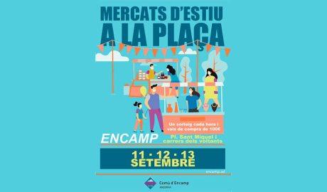 Cartell que anuncia la celebració d'un mercat a Encamp