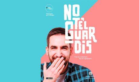El cartell del programa 'Voluntaris per la Llengua'