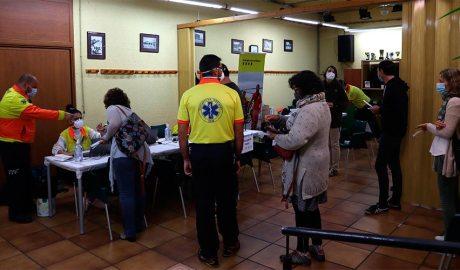 Cribratge de la COVID-19 a Puigcerdà (Foto: Ajuntament de Puigcerdà)